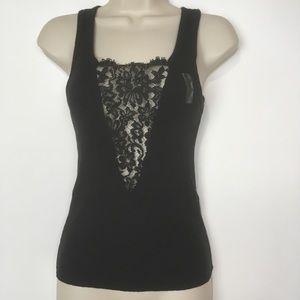 Victoria's Secret black lace tank top